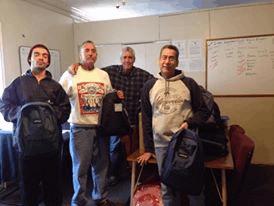 CCLM receives backpacks for homeless